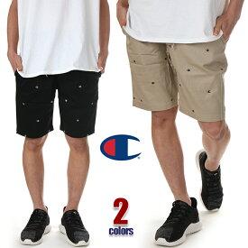 チャンピオン ハーフパンツ メンズ レディース CHAMPION コットン ショーツ ショートパンツ 短パン 大きいサイズ ビッグサイズ 無地 USA ブランド ファッション 黒 ブラック ベージュ カーキ M L XL C3-P513
