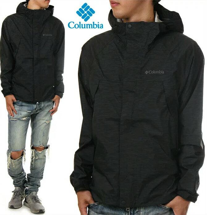コロンビア ジャケット メンズ COLUMBIA WABASH マウンテンパーカー マウンテンジャケット ナイロンジャケット オムニテック 大きいサイズ 山登り アウトドア ファッション 黒