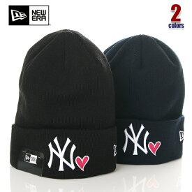 ニューエラ ニット帽 メンズ レディース NEW ERA カフニット ニューヨーク ヤンキース ニットキャップ ビーニー NY アメカジ ストリート系 ヒップホップ ダンス 衣装 USA ブランド ファッション 黒 紺 ブラック ネイビー 11474696