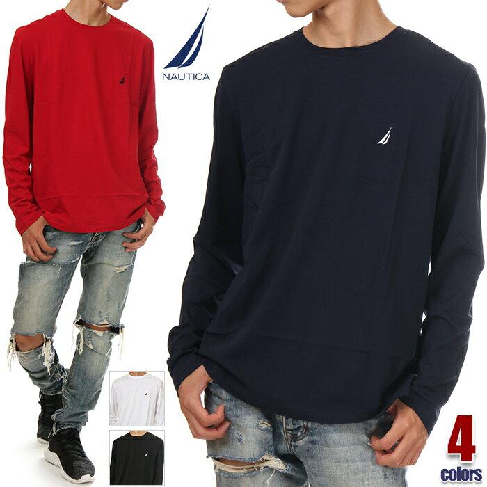 ノーティカ 長袖 Tシャツ メンズ NAUTICA 無地 ロンT ロゴ 大きいサイズ USAモデル アメカジ スポーツ