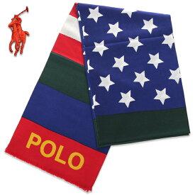 ラルフローレン ストール メンズ レディース 新作 POLO RALPH LAUREN マフラー ウール USA アメカジ ブランド ファッション プレゼント 男性 女性 星条旗 ブルー レッド 赤 青