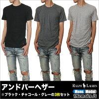 ラルフローレンTシャツメンズPOLORALPHLAUREN半袖無地Tシャツメンズ大きいサイズブラックホワイト黒白ブランド3枚セット