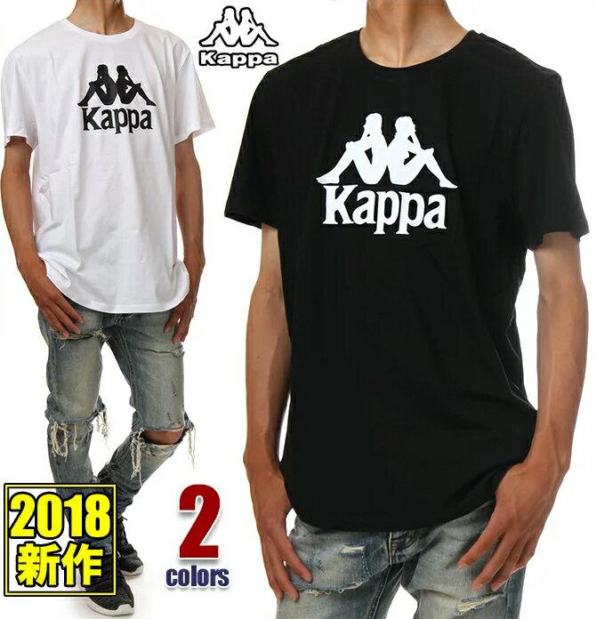 KAPPA Tシャツ 半袖 メンズ レディース 大きいサイズ カッパ ロゴ Tシャツ アメカジ スポーツ ストリート ウェア ヒップホップ ダンス 衣装 ブランド ファッション M L XL 2XL 黒 ブラック 白 ホワイト