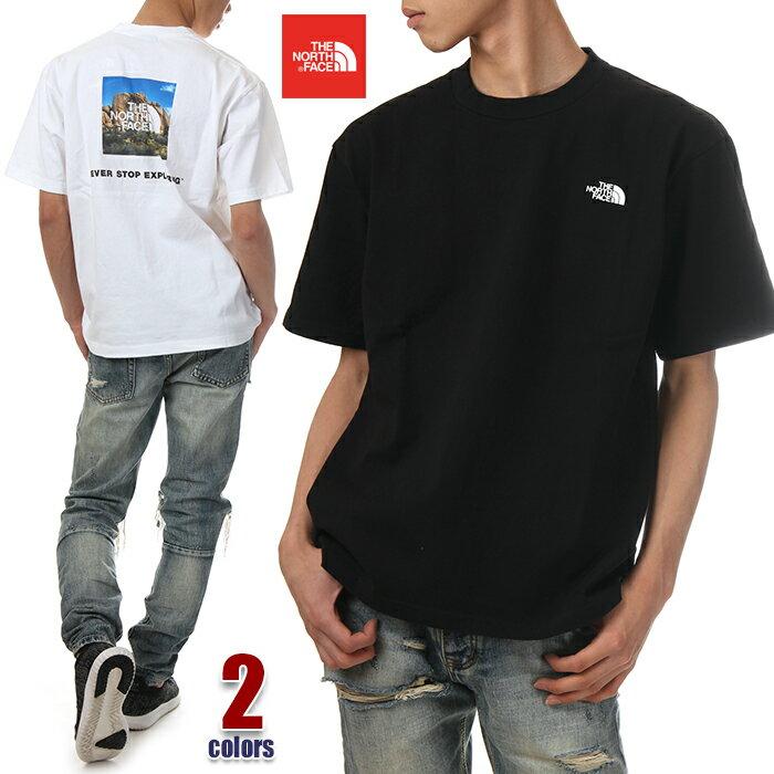 ノースフェイス Tシャツ メンズ レディース THE NORTH FACE S/S Square Logo Joshua Tree Tee 半袖Tシャツ ロゴ 綿100% アウトドア アメカジ ストリート ファッション 白 黒 ホワイト ブラック NT31952