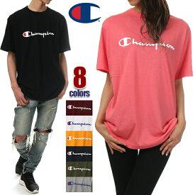 チャンピオン Tシャツ メンズ レディース CHAMPION ロゴ 半袖 Tシャツ 大きいサイズ ビッグシルエット ビッグ ビッグサイズ ビッグTシャツ ロゴ 無地 日本規格 ビッグロゴ アメカジ ブランド 白 黒 青 紺 緑 グレー イエロー ピンク S M L XL XXL C3-P302