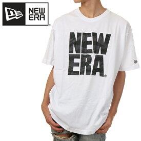 ニューエラ Tシャツ メンズ レディース 半袖 NEW ERA ロゴ Tシャツ 大きいサイズ 白 ホワイト NEWERA ビッグTシャツ ビッグシルエット おしゃれ ゆったり USA ブランド ファッション