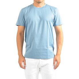 グランサッソ Gran Sasso Tシャツ 半袖 クルーネック メンズ 春夏 コットン100% 無地 ライト ブルーイタリア ブランド M L XL 2XL 3XL 4XL