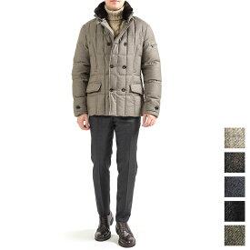 【WINTER SALE】【30%OFF】ムーレー MOORER SIRO L ダウン ジャケット コート ショート丈 セミダブルブレスト 立襟リアルファー付き ウール カシミヤ 秋冬 メンズ イタリア ブランド 2XS XS S L 3XL 大きいサイズ