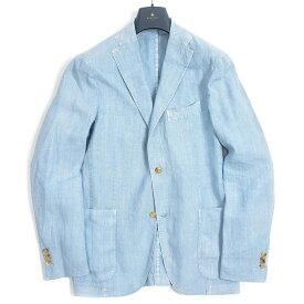 ボリオリ BOGLIOLI K.JACKET ケージャケット テーラード ジャケット 2Bシングル 春夏 メンズ リネン 100% ライト ブルー イタリア ブランド アンコンジャケット M サイズ