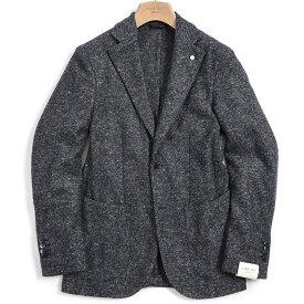 【期間限定】【半額以下】エルビーエム 1911 L.B.M. 1911 Dandy Jacket テーラード ジャケット 2Bシングル ノッチドラペル メンズ 秋冬 メランジ ウール ブルー イタリア ブランド S M L XL 2XL 大きいサイズ