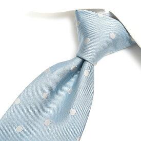 【半額以下】トムフォード TOM FORD ネクタイ メンズ シルク 100% ドット ライト ブルー 水色 イタリア ブランド MADE IN ITALY ビジネス ギフト