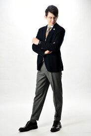 LARDINI ラルディーニ 【送料無料】テーラード ジャケット メンズ 秋 冬 シングル 2つボタン ブートニエール付き ウール カシミヤ ネイビー 紺 S M/イタリア ブランド ビジネス カジュアル イタリア製