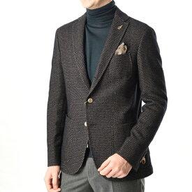 パオローニ PAOLONI 【送料無料】テーラードジャケット シングル 段返り3つボタン コットン ウール 秋冬 3シーズン メンズ ブランド