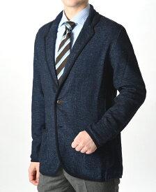 LARDINI ラルディーニ 【送料無料】ニットジャケット コットン リネン ソリッド メンズ ブランド イタリア/S M L XL カジュアル ビジネス 春夏