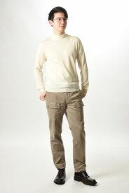 Gran Sasso グラン サッソ 【送料無料】Vintage ニットセーター モックネック ヴァージンウール100% 秋冬 メンズ アイボリー 無地/XS S M L/イタリア ブランド