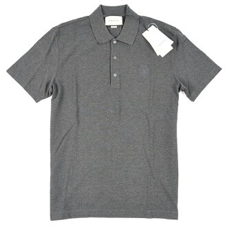 d6b154b6a70 GUCCI Gucci polo shirt short sleeves men GUCCI logo embroidery fawn  charcoal gray cotton cotton 100% M L in the spring and summer