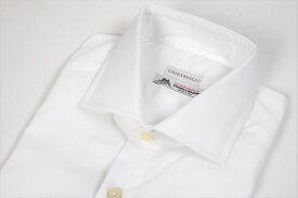 GHIRARDELLI ギラルデッリ 【送料無料】THOMAS MASON ドレスシャツ ワイドカラー メンズ 長袖 コットン100% ホワイト 白 S M M〜L L/イタリア ブランド ビジネス 白シャツ 仕事