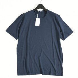 Gran Sasso グラン サッソ 【送料無料】Tシャツ クルーネック 半袖 メンズ 春夏 コットン 綿 100% 無地 ネイビー 紺/2XL/イタリア ブランド カジュアル【サマーセール】