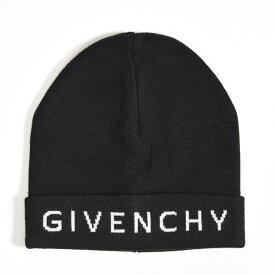 【半額以下】GIVENCHY ジバンシー 【送料無料】ニットキャップ ニット帽 帽子 メンズ レディース ウール ブラック ホワイト ロゴ/イタリア製 ブランド 男女兼用 ギフト