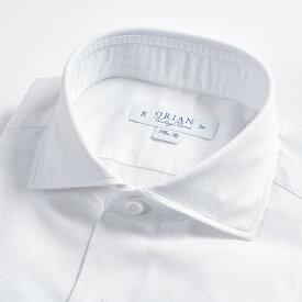 オリアン ORIAN 【送料無料】シャツ ワイドカラー VINTAGE CLASSIC スリム SLIM FIT メンズ コットン 綿100% ホワイト 織 白 無地/S M L XL 2XL/イタリア ブランド カジュアル【あす楽対応_関東】
