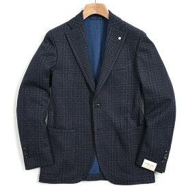 【期間限定】【半額以下】エルビーエム 1911 L.B.M. 1911 Dandy Jacket テーラード ジャケット 2Bシングル ノッチドラペル ストレッチ メンズ 秋冬 コットンウール ハウンドトゥース チェック S M L XL 2XL 大きいサイズ