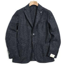 【期間限定】【半額以下】エルビーエム 1911 L.B.M. 1911 テーラード ジャケット 2Bシングル ノッチドラペル メンズ 秋冬 ウール 織柄 ネイビー イタリア ブランド サイズ M L XL 2XL 大きいサイズ