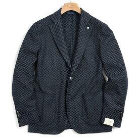 【期間限定】【半額以下】エルビーエム 1911 L.B.M. 1911 テーラード ジャケット 2Bシングル ノッチドラペル メンズ 秋冬 ウール 織柄 ネイビー イタリア ブランド サイズ XL 2XL 大きいサイズ