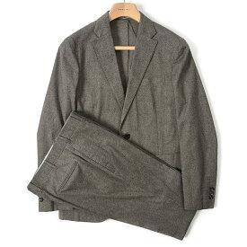 ボリオリ BOGLIOLI DOVER テーラード スーツ 2Bシングル 春夏 ストレッチ メンズ コットン 総柄 グレイッシュ ブラウン サイズ M