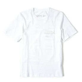 《動画配信中》ヘルムートラング HELMUT LANG Tシャツ 長袖 クルーネック 春夏 メンズ コットン 100% ロゴ ホワイト