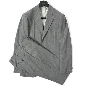 ボリオリ BOGLIOLI テーラード スーツ 段返り3Bシングル 春夏 メンズ ウール 100% チェック グレー サイズ M