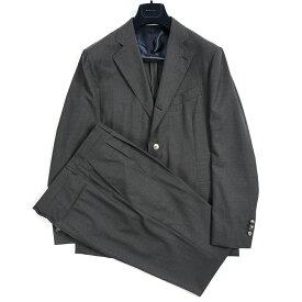 【BLACK FRIDAY】【半額】ボリオリ BOGLIOLI BRERA ブレラ テーラード スーツ セットアップ 段返り3Bシングル 秋冬 メンズ ヴァージンウール 100% 無地 チャコール グレー イタリア ブランド アンコンジャケット L サイズ