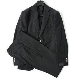 ボリオリ BOGLIOLI テーラード スーツ 2Bシングル 春夏 メンズ リネン シルク ブラック サイズ S