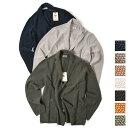 グランサッソ Gran Sasso Vintage ニット ジャケット 3Bシングル 製品染め メンズ コットン 100% 無地 S 〜 4XL 大きいサイズ