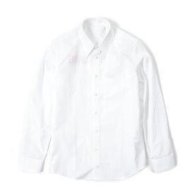 ヘルムートラング HELMUT LANG シャツ レギュラーカラー 長袖 春夏 メンズ コットン 100% ロゴ ホワイト