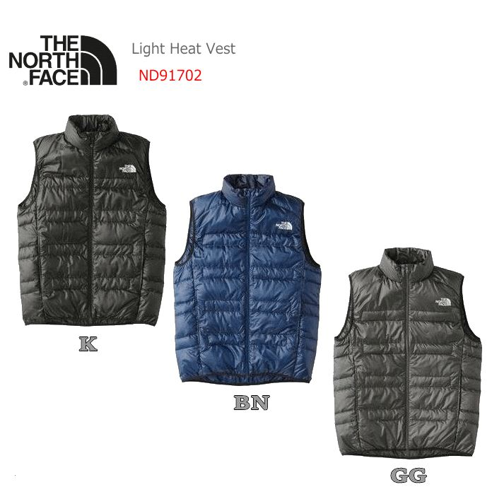 【2017-18 Fall&Winter】【送料無料】THE NORTH FACE/ノースフェイス Light Heat Vest(ライトヒートベスト)【メンズ】/ND91702【アウター】【ダウンベスト】【インナーダウン】【ポケッタブル仕様】【登山】【男性用】