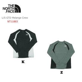 ノースフェイス L/S GTD Melange Crew(ロングスリーブGTDメランジクルー)/NT11893【メンズ】【ランニング】【UVケア】【長袖】【Tシャツ】【男性用】