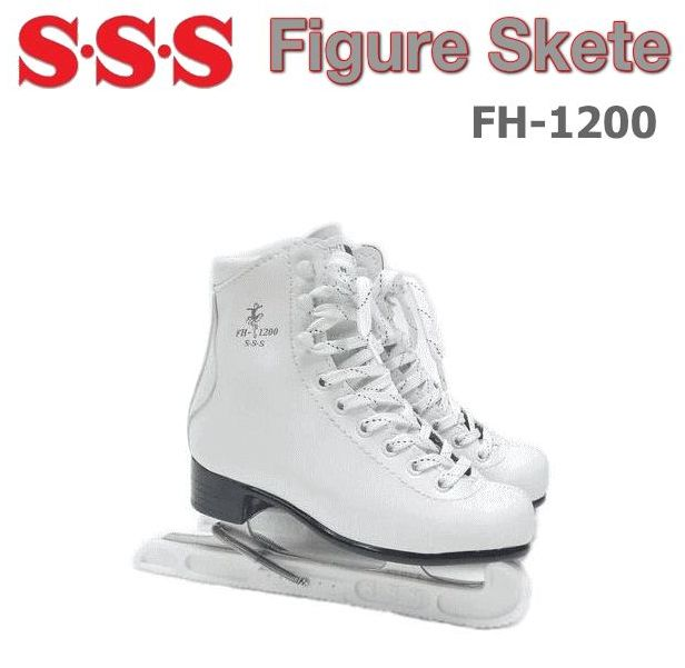 S・S・S/サンエス フィギュアスケート/FH-1200 【フィギュアスケート靴】【初心者-中級者】【エッジカバー付き】【16.0cm-25.5cm】【ホワイト】