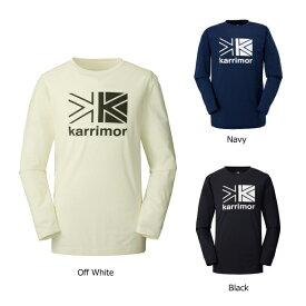 カリマー 3T03MAI1 ロゴ PF L/S T[メンズ] 2019秋冬モデル メール便選択で送料無料 長袖Tシャツ