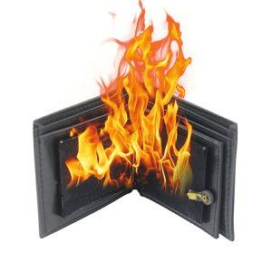 「マジック道具 ファイヤーマジック 炎のマジック」燃える財布 マジック財布 クロースアップ・マジック Flame Wallet - Black