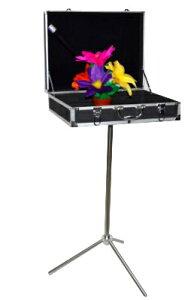 「二日内発送!送料無料!アルミキャリーケース マジックテーブル」マジックボックス ステージマジック 手品用カバン トランク テーブル 三脚 ストリートマジック手品道具 (黒)手品 グ