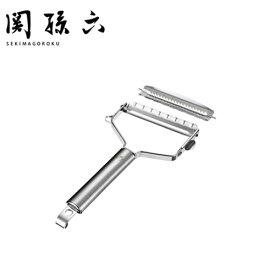 貝印 ピーラー関孫六 ワイドピーラー (スライス&千切りセット) DH3301