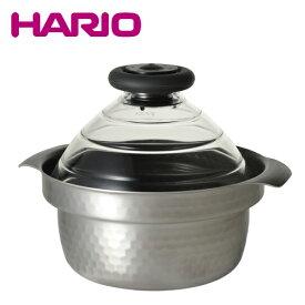 ハリオ ご飯鍋 フタがガラスのIH対応ご飯窯雪平 GIS-200