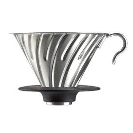 コーヒー ドリッパー ハリオV60 メタルドリッパー シルバー