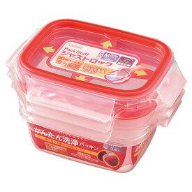 日本製 パックスタッフ ジャストロック 長方形 Mサイズ 3個入 Just Lock プラスチック 保存容器 容器 プラスチック 保存容器 密閉 在庫限り
