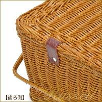 【直送品】ピクニックバスケット蓋つき[かごバスケット][収納バスケット]