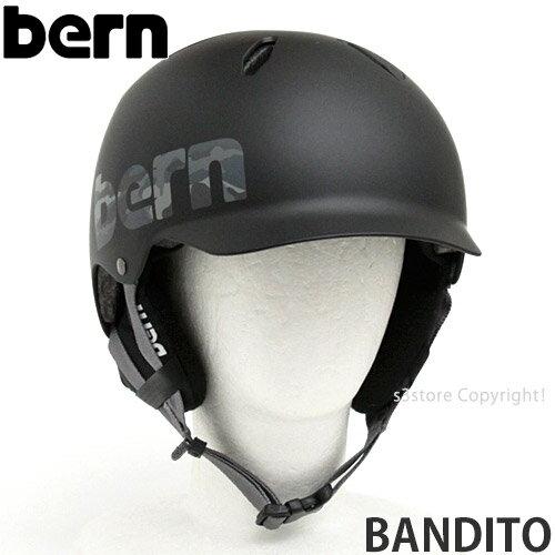 バーン バンディート 【BERN BANDITO】 国内正規品 ジュニア キッズ 子ども 男児 ヘルメット スケートボード スノーボード オールラウンド 自転車 キックボード MTB BMX Helmet カラー:Matte Black Camo