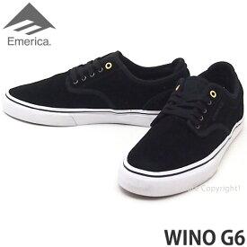 【送料無料】 エメリカ ウィーノ G6 【emerica WINO G6】 シューズ 靴 スケシュー スニーカー スケートボード メンズ SKATEBOARD SHOES SNEAKER MENS カラー:BLACK/WHITE