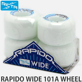 リクタ ラピード ワイド ウィール 【RICTA RAPIDO WIDE WHEEL】 スケートボード スケボー ハード ストリート パーク パーツ SKATEBOARD カラー:White/Blue サイズ:56mm/101a