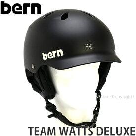 19model バーン チーム ワッツ デラックス ジャパン フィット 【BERN TEAM WATTS DELUXE JAPAN FIT】 国内正規品 スノーボード スキー ヘルメット プロテクター メンズ ウィンタースポーツ SNOWBOARD HELMET カラー:Matte Black