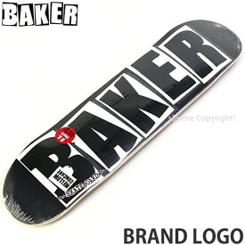 ベイカー ブランド ロゴ 【BAKER BRAND LOGO】 スケートボード スケボー デッキ 板 チーム ストリート パーク 初心者 プロ SKATEBOARD カラー:Black/White サイズ:8.0×31.5